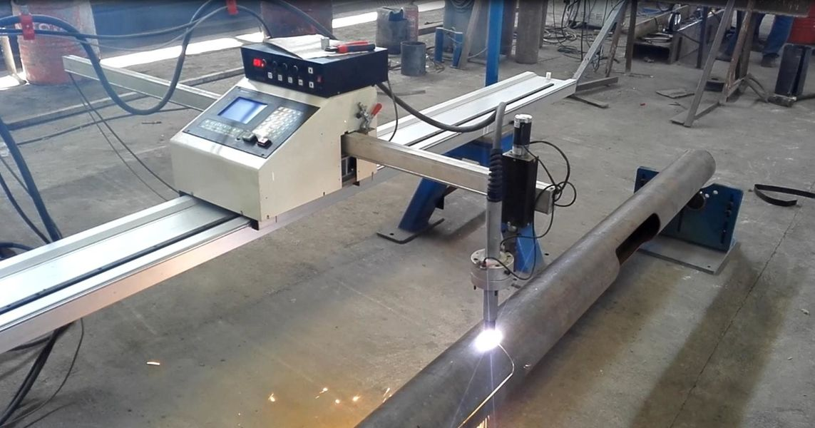 China best Light Pole Door Cutting Machine on sales