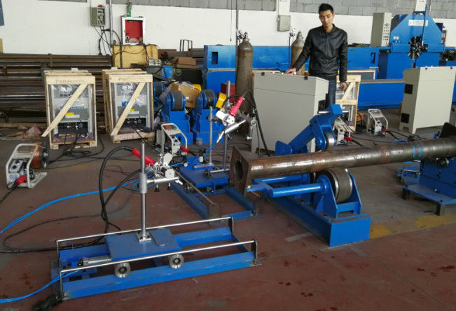 Automatic Base Plate Welding Machine for Conical Pole or Round bar