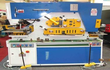 China Hydraulic punch & shear Ironworker Machine , Light Pole Machine cutting 25mm Max factory