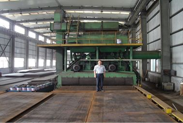 China Steel pipes , square tube Heavy H-beam shot blasting equipment 5 - 60mm factory