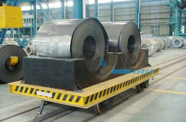 Structural Steel Railway Motorized Transfer Trolley / Truck For Warehouses Transportation