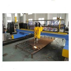 China 4000mm Gantry Type CNC Plasma Cutting Machine with vertical and horizontal cutting factory