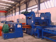 37kw scrape edge slitting and Taper Cutting Machine , cut to length line for light pole supplier