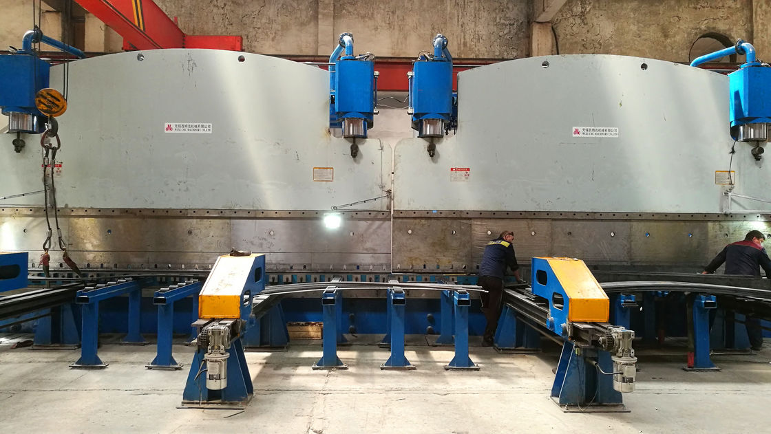Double linkage cnc hydraulic plate bending machine for light pole production line supplier