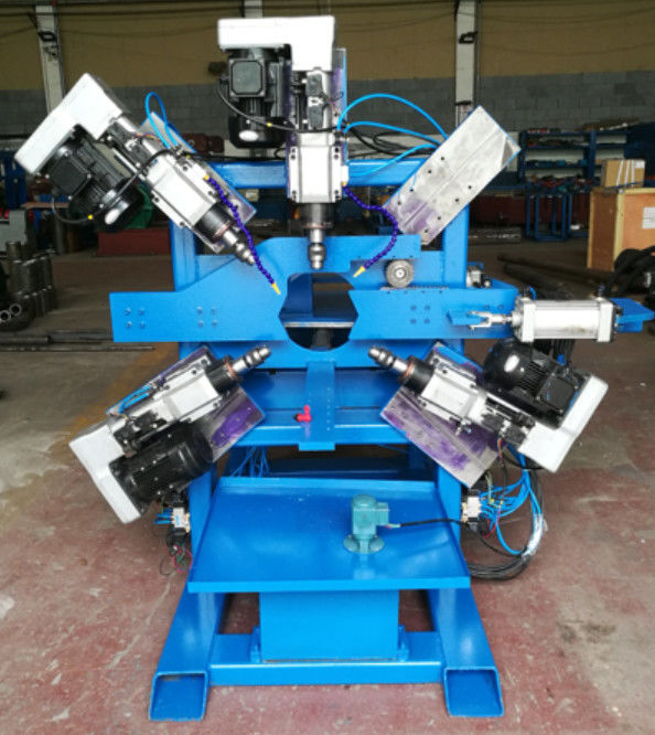 Parking lot  Light Pole Machine  , Double Hole Drilling machine for 40 ~ 120mm pipe supplier