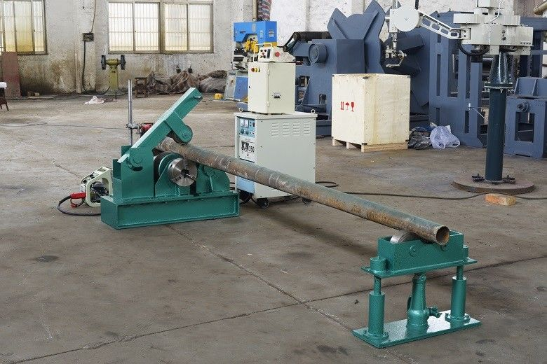 Automatic base plate welding machine for conical pole or