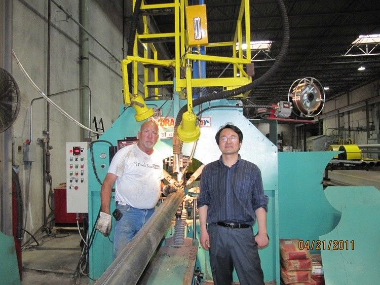 Large Light Pole Shut-Welding Machine / light pole production line with ISO Approval supplier