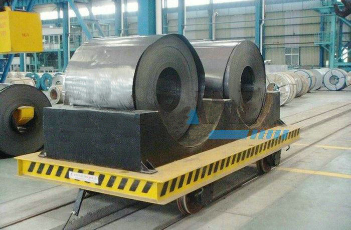 Structural Steel Railway Motorized Transfer Trolley / Truck For Warehouses Transportation supplier