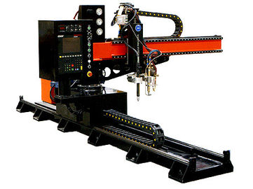Cantilever Type Small CNC Plasma Cutting Machine , Flame cutter for Thin Plate
